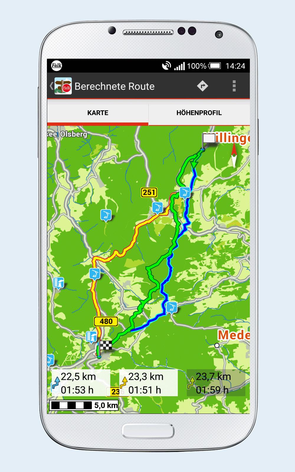 falk outdoor navigation jetzt auch auf dem smartphone navigation gps. Black Bedroom Furniture Sets. Home Design Ideas
