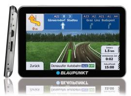 Blaupunkt TravelPilot 53/73 von vorne und seitlich