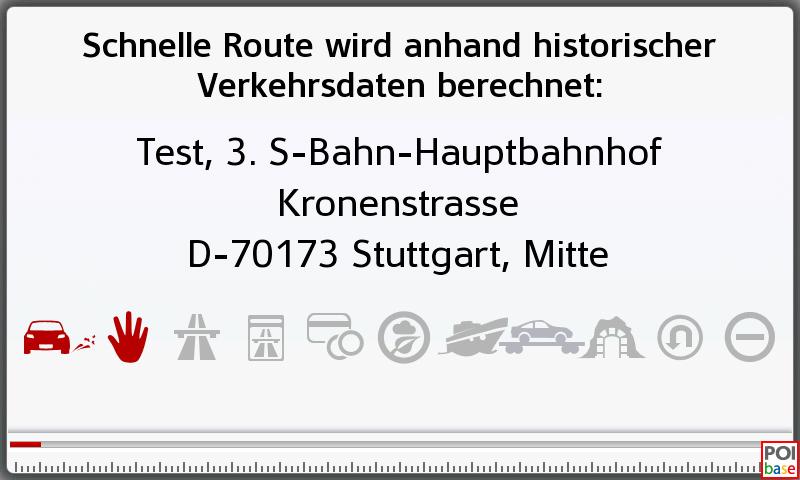 Route wird berechnet Becker professional.6 LMU