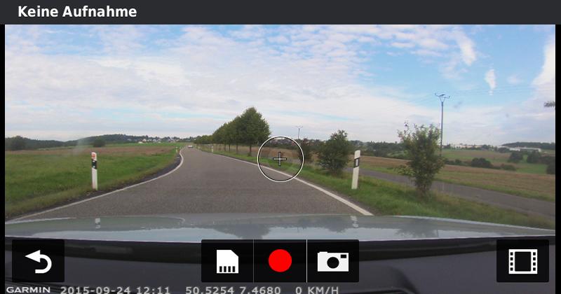 Kamerabild der Garmin nüviCam