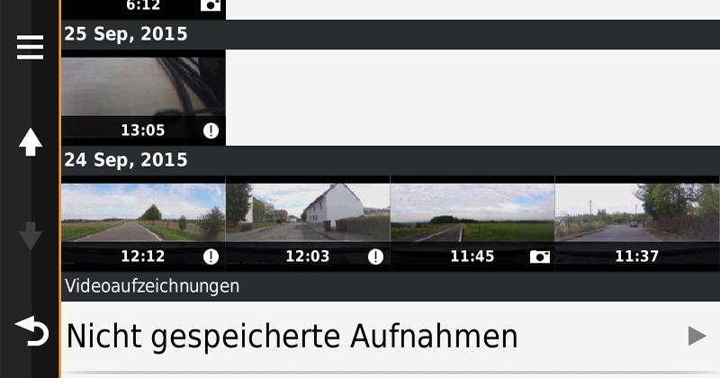 Garmin nüviCam Video Übersicht