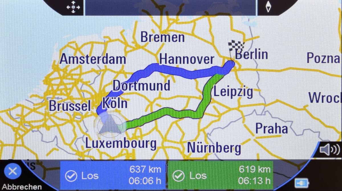 Blaupunkt Travelpilot 72 Alternative Routen