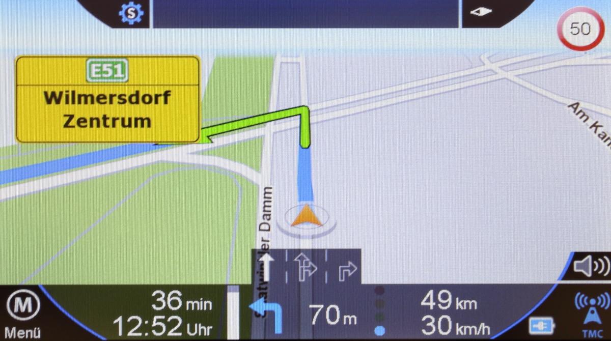 Blaupunkt Travelpilot 72 LMU Navigationsansicht