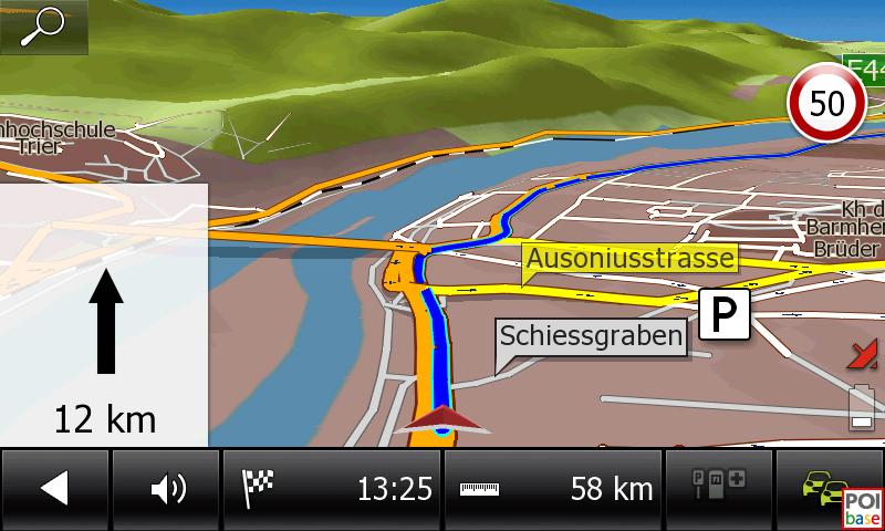 Falk NEO 640 LMU Navigationsansicht