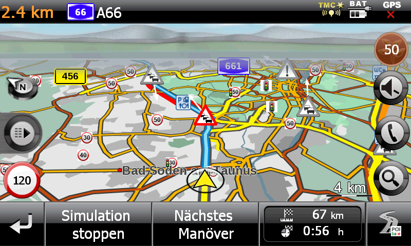 MEDION GoPal E5470 EU+ Kartenansicht 3D