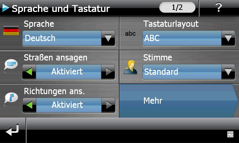 MEDIO GoPal E5470 EU+ Spracheinstellungen
