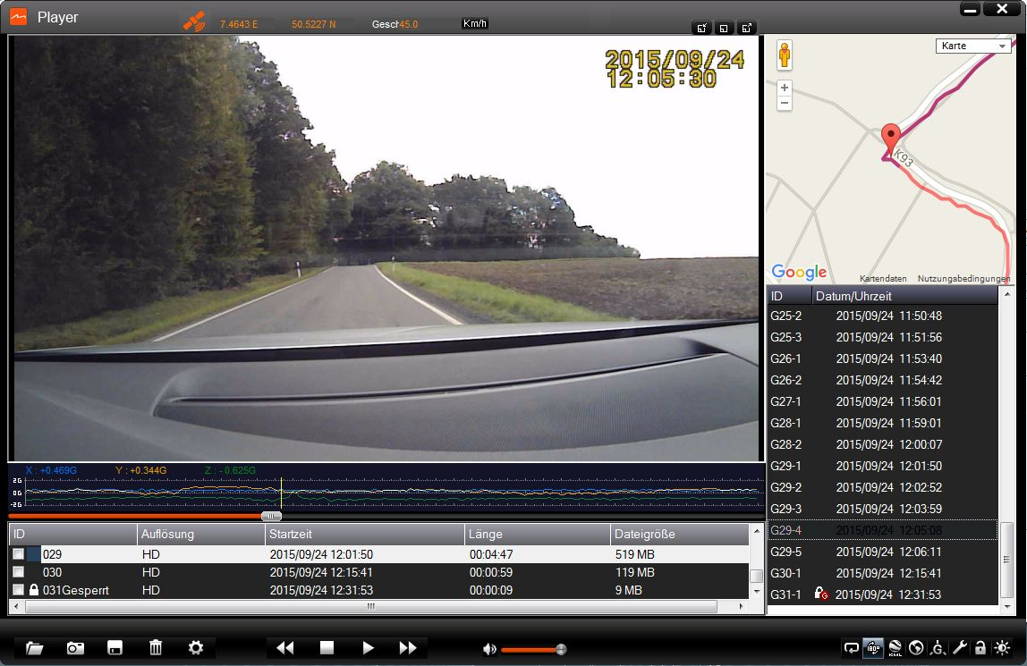 Mio Dashcam Auswertungssoftware