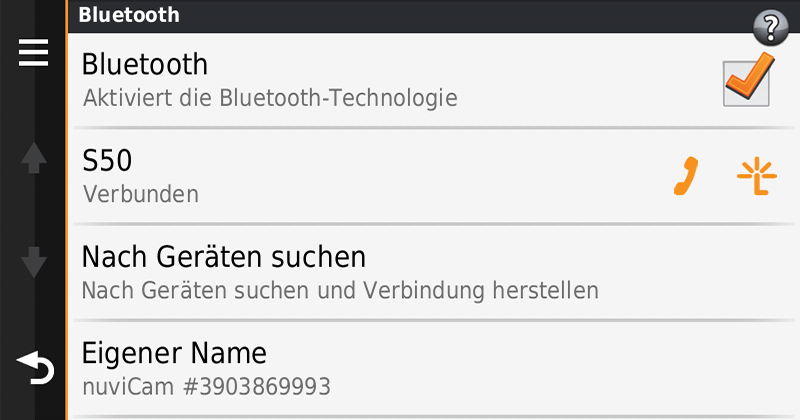 Garmin-nuvicam-Freisprechen-Bluetooth