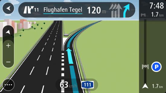 NaviKit_Fahrspurassistent_Flughafen Tegel in 120 Metern