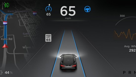 Tesla Model S Benutzeroberfläche