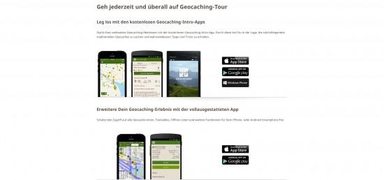 Groundspeak empfiehlt weiterhin die Premium-App für eine Erweiterung des Geocaching-Erlebnis