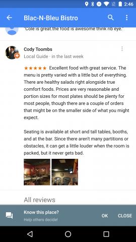 Google-Maps-Android-Bewertungen
