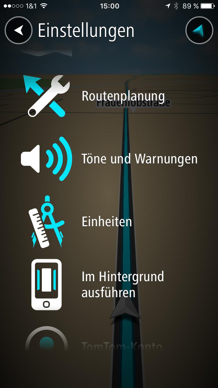 navi app tomtom go mobile f r ios im test navigation gps blitzer pois. Black Bedroom Furniture Sets. Home Design Ideas