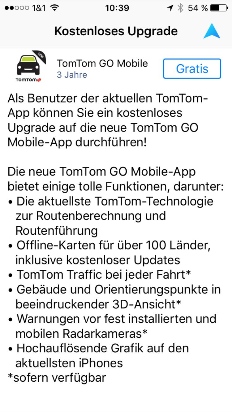 Navi-App TomTom GO Mobile für iOS im Test › pocketnavigation