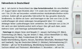 BECKER EU LKW-Fahrverbotskalender_Termine Deutschland