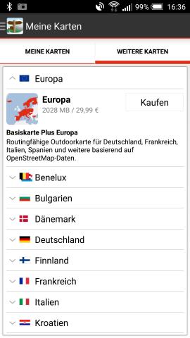 FON-App_Meine Karten