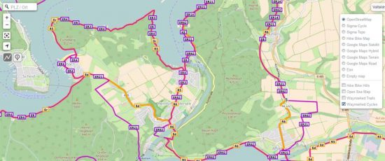 GPSies mit Waymarked Trails_1000