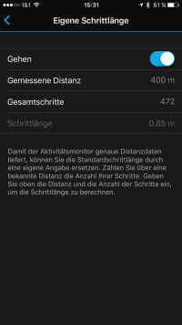 Garmin-Connect-vivoactive-HR-Distanz