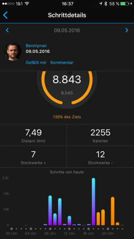 Garmin-Connect-vivoactive-HR-Schritte-01