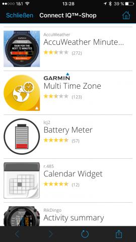 Garmin-Connect-vivoactive-HR-Widgets