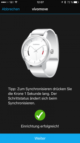 Garmin-vivomove-Connect-Einstellunge