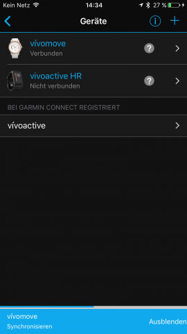 Garmin-vivomove-Connect-Sync