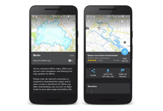 Bikemap-App-Offline-Funktionen