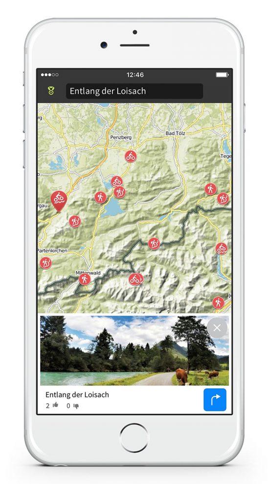 Komoot App Karte