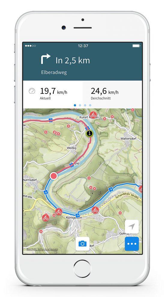 Komoot App Navigation