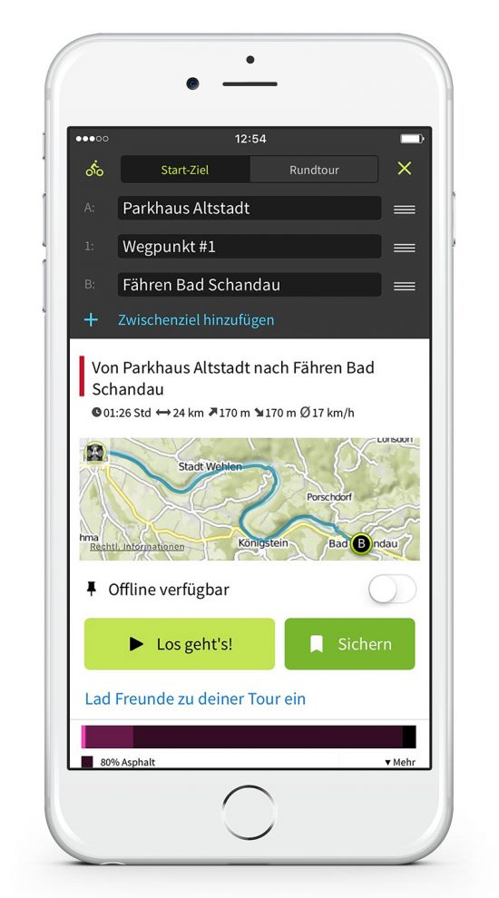 Komoot App Routenplaner