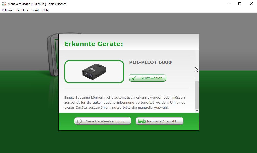 Blitzwarner POI Pilot 6000 POI Pilot: GPS-Gefahren-Warner mit POI-Daten f/ür Europa 3 Jahre kostenl Updates