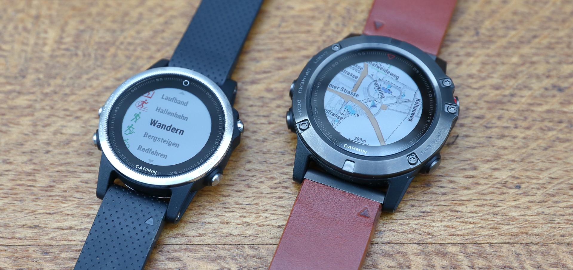 Garmin Fenix 5x Gps Uhr Im Test Navigation 5 Sapphire Slate Grey 5s Links Rechts