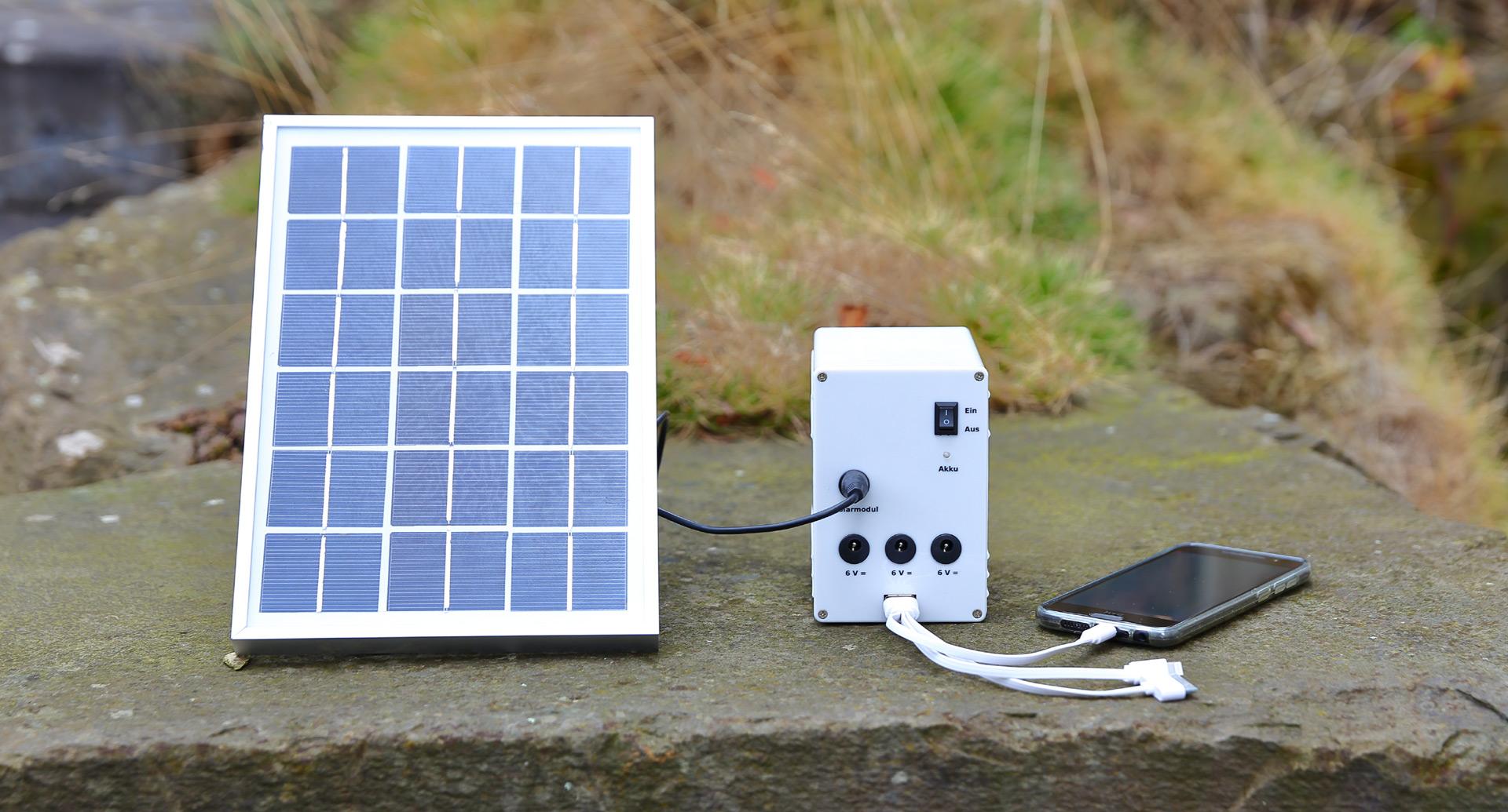 Test portables solar licht und ladesystem for Solar licht