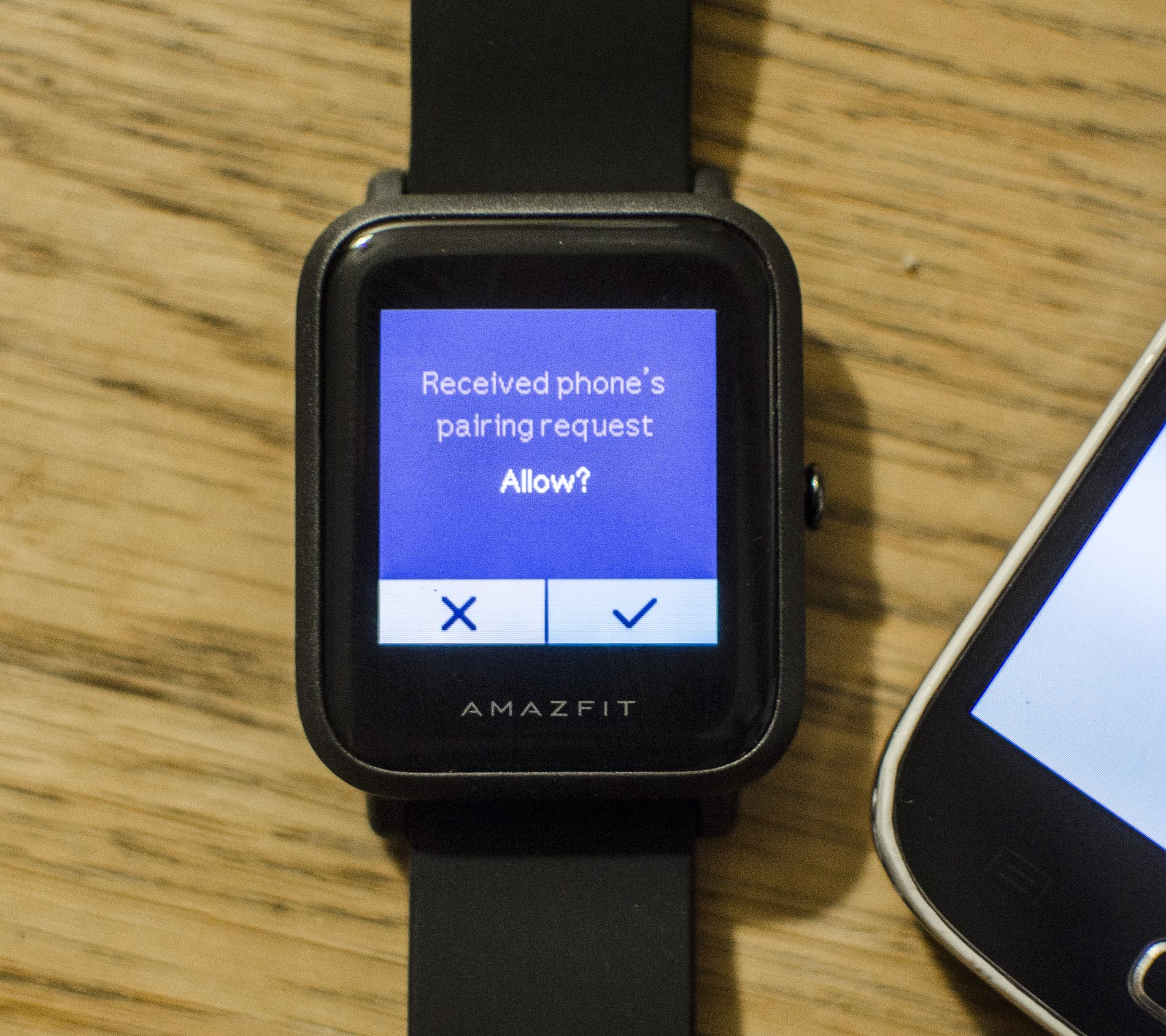 Durch den letzten Schritt in Gad bridge verbindet sich Amazfit Bip Watch mit der alternativen App Hierdurch wird Systemsprache der Uhr