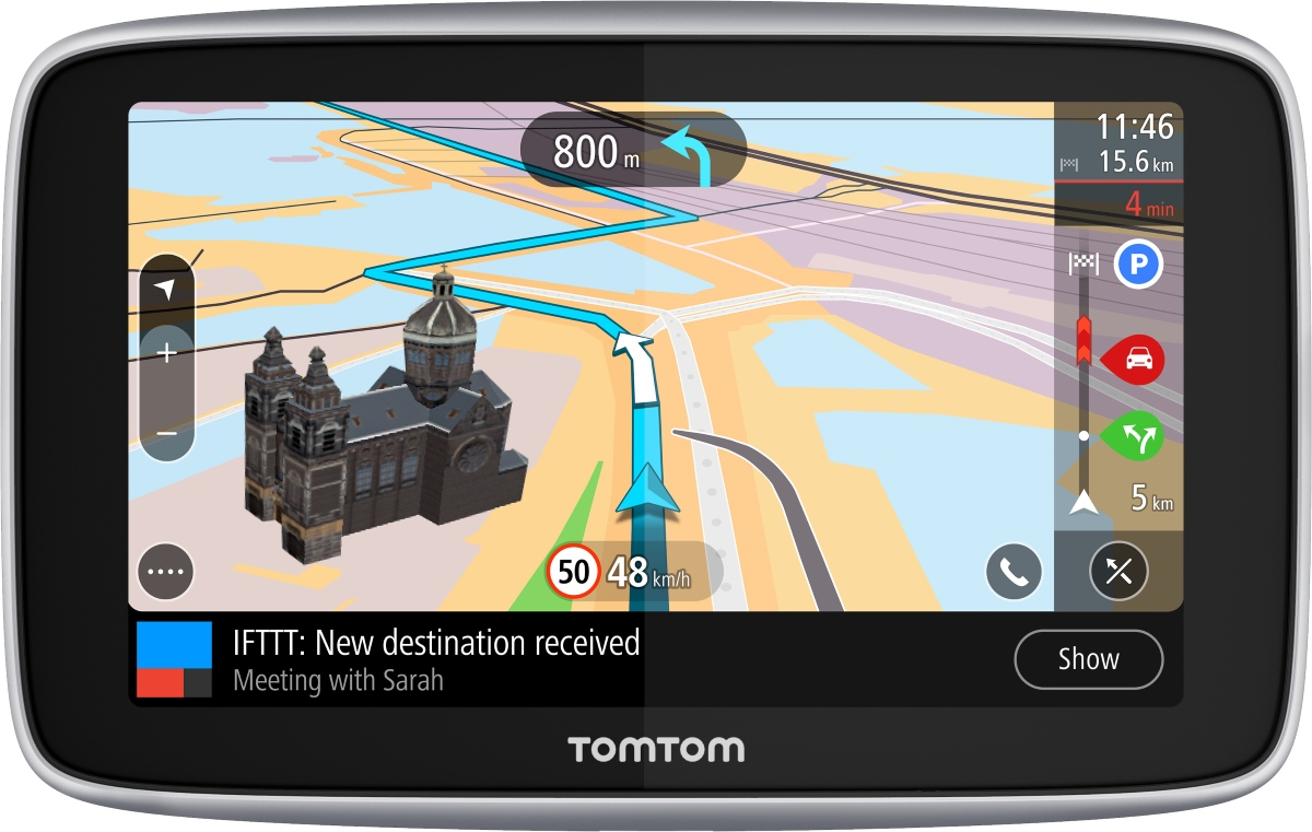 tomtom go premium mit ifttt vorgestellt pocketnavigation. Black Bedroom Furniture Sets. Home Design Ideas