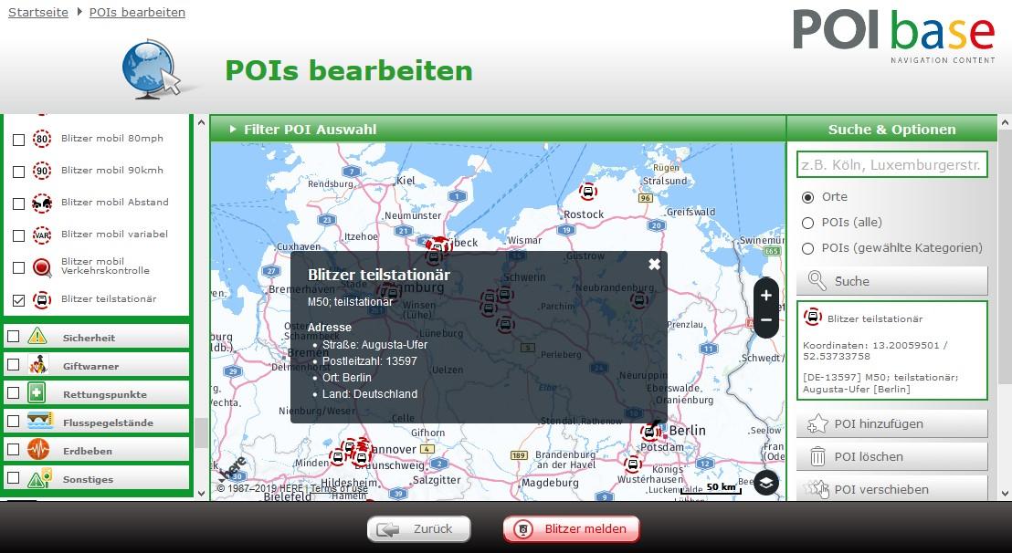 Blitzer Karte.Poibase Warnt Vor Teilstationaren Radaranlagen News