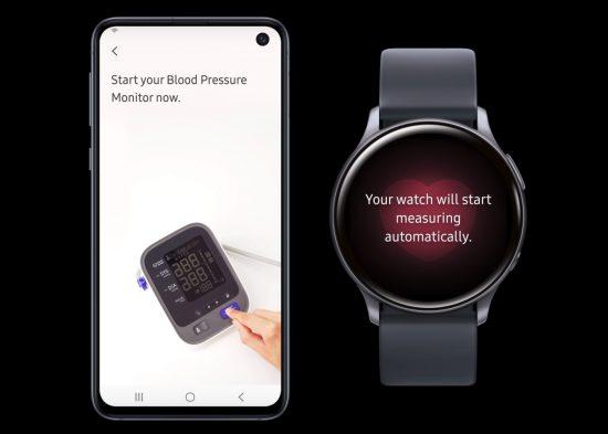 Blutdruck-App Samsung Health für Galaxy Watch 2..