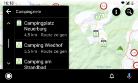 Campingplatz-Details in Camping.info by POIbase für Android Auto